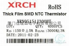 NTC片式热敏电阻器0805-150欧