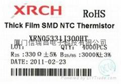 NTC片式热敏电阻器0805-330欧