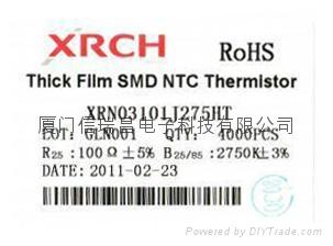 片式热敏电阻器0603-100欧 1
