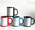 11oz wholesale full color mug with white patch sublimation mug