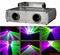 Double lens green and purple laser light DMX laser stage lighting