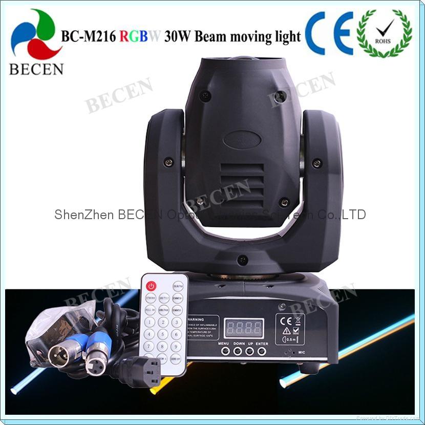 Remote control 30W LED mini beam moving head spot light  5