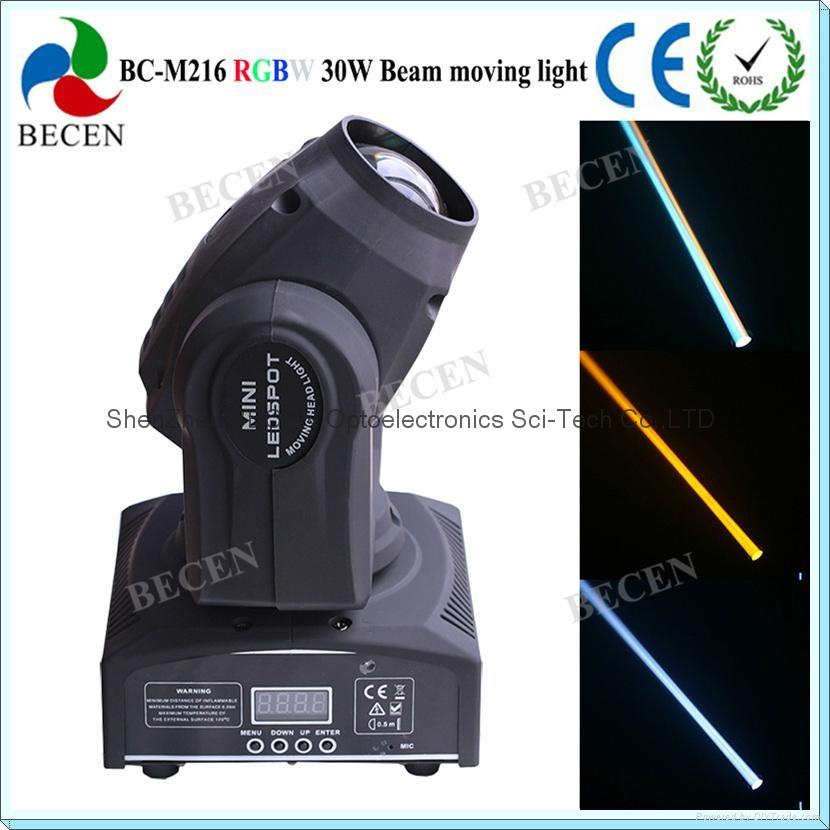 Remote control 30W LED mini beam moving head spot light  6