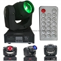 Remote control 30W LED mini beam moving head spot light  3