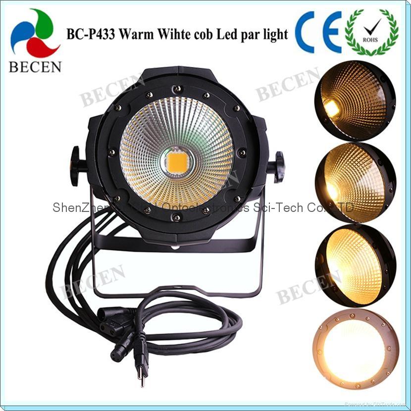 100W COB LED PAR 64 Stage light warm white  3