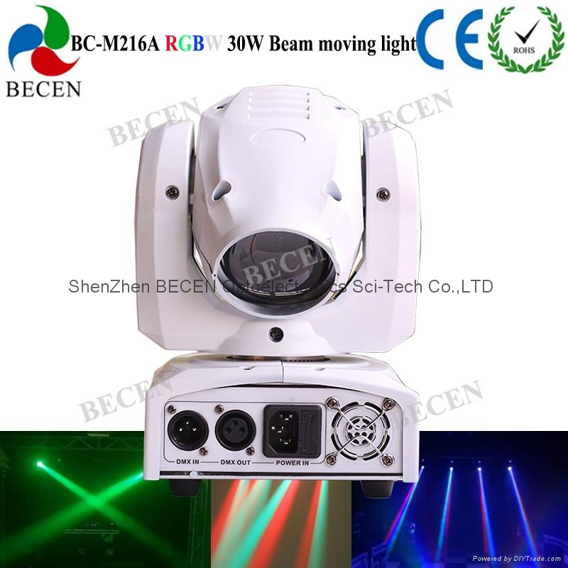 Remote control 30W LED mini beam moving head spot light  2