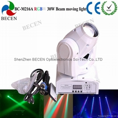 Remote control 30W LED mini beam moving head spot light
