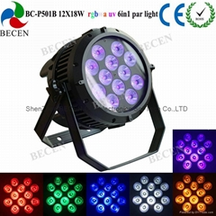 12X18w rgbwa-uv 6in1 waterproof led par