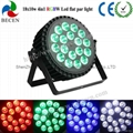 18X10W RGBW LED FLAT PAR CAN LIGHT