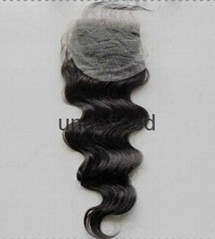 5A Free Part Brazilian Virgin Hair Closure Human Hair Lace Top Closure