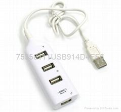 便携式USB2.0 高速4口hub