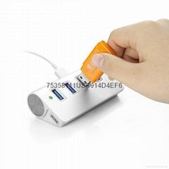 USB2.0HUB USB2.0四口集线器 超高速 2.0HUB铝合金材料