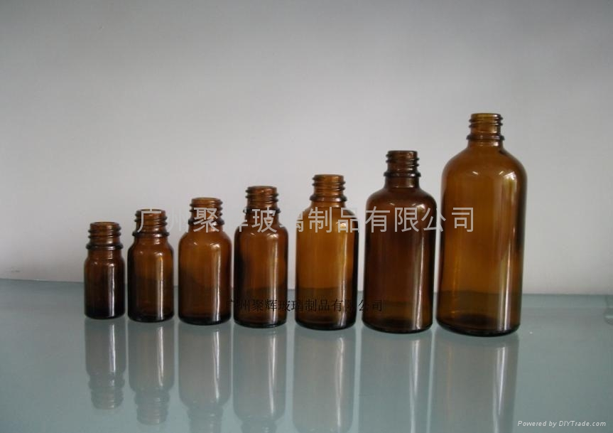 茶色棕色玻璃精油瓶5-100ml   1