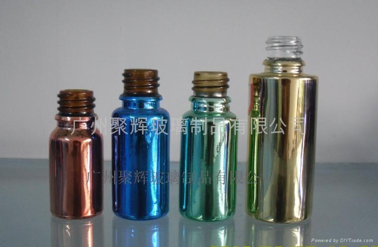 电镀喷涂蒙砂玻璃精油瓶 1