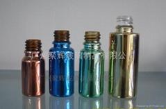 电镀喷涂蒙砂玻璃精油瓶