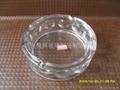 高档圆形透明玻璃烟灰缸