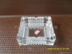 Square-shaped Glass Ashtray