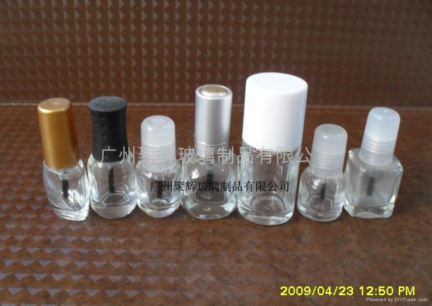 Clear Glass Nail Polish Bottle 5ml 2
