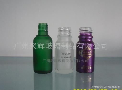 电镀喷涂蒙砂玻璃精油瓶 2
