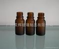 电镀喷涂蒙砂玻璃精油瓶 3