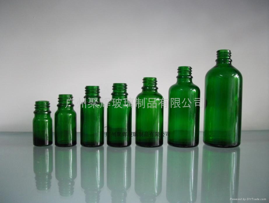 Green Glass Essential Oil Bottle 1