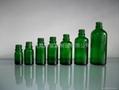 绿色玻璃精油瓶配套电化铝盖胶头