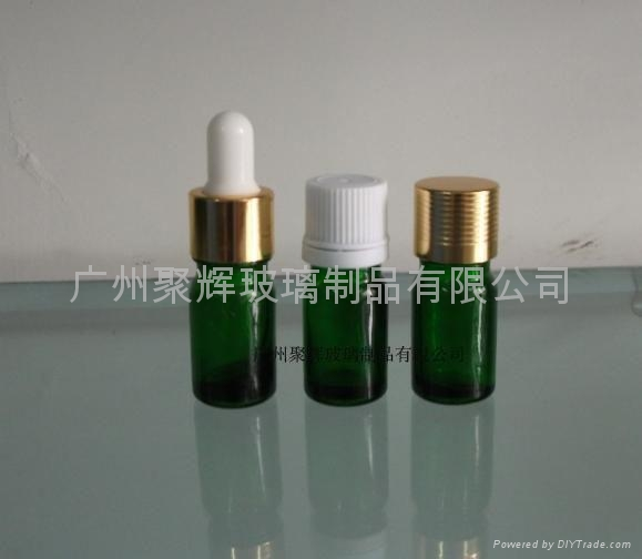 Green Glass Essential Oil Bottle 2