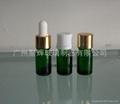 綠色玻璃精油瓶配套電化鋁蓋膠頭滴管 2