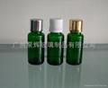 綠色玻璃精油瓶配套電化鋁蓋膠頭滴管 3