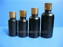 各種容量黑色玻璃精油瓶