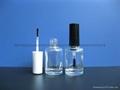 15ml圆柱形玻璃指甲油瓶配盖
