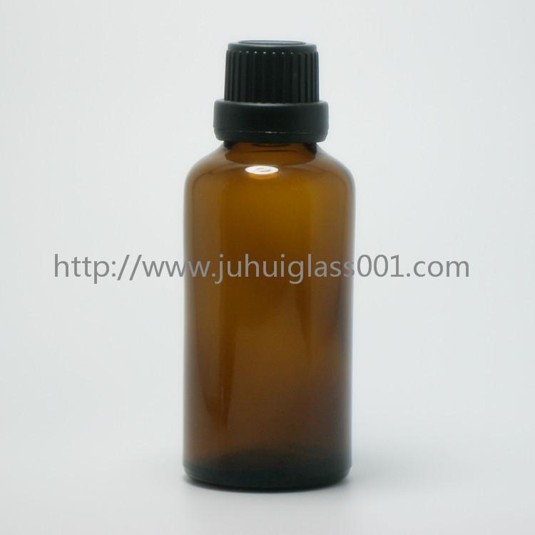 茶色50ml精油瓶香精瓶可配套各种塑料盖电化铝盖玻璃滴管 1
