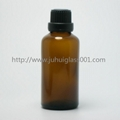 Amber 50ml Essential Oil Bottle Glass