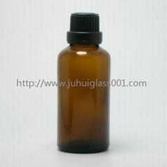茶色50ml精油瓶香精瓶可配套各種塑料蓋電化鋁蓋玻璃滴管