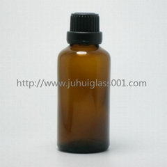 Amber 50ml Essential Oil Bottle Glass Bottle with Cap/Dropper