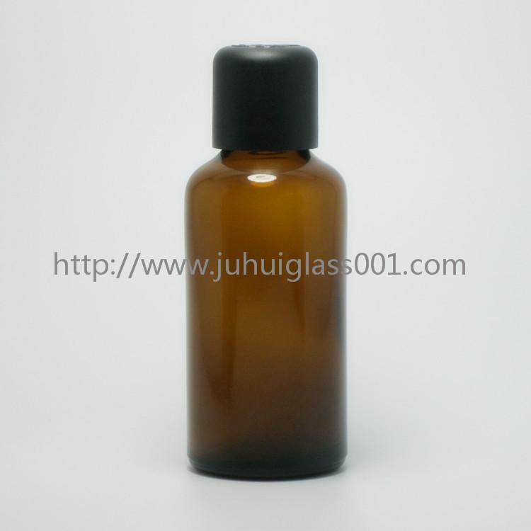 茶色50ml精油瓶香精瓶可配套各种塑料盖电化铝盖玻璃滴管 2