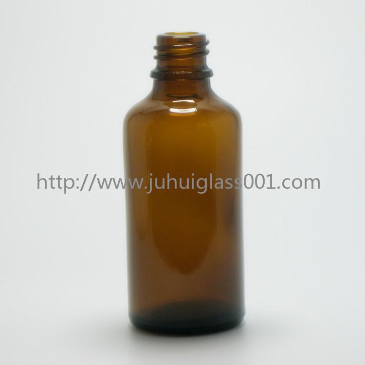 茶色50ml精油瓶香精瓶可配套各种塑料盖电化铝盖玻璃滴管 5