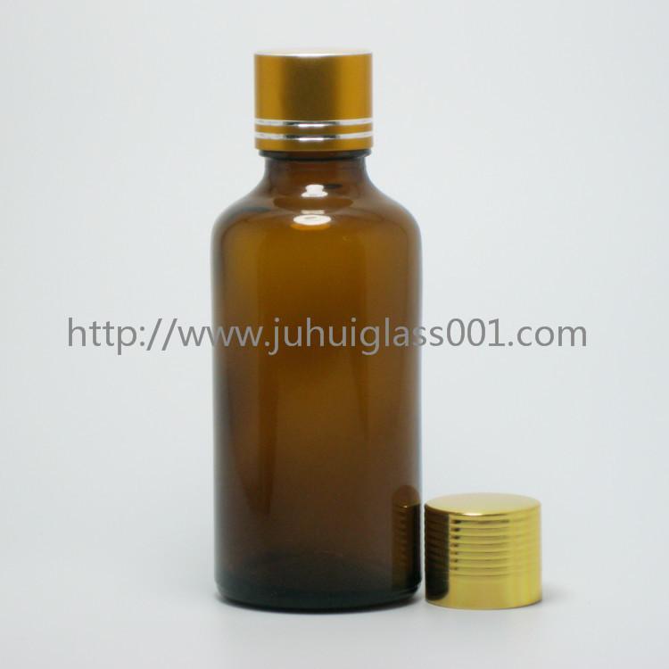茶色50ml精油瓶香精瓶可配套各种塑料盖电化铝盖玻璃滴管 6