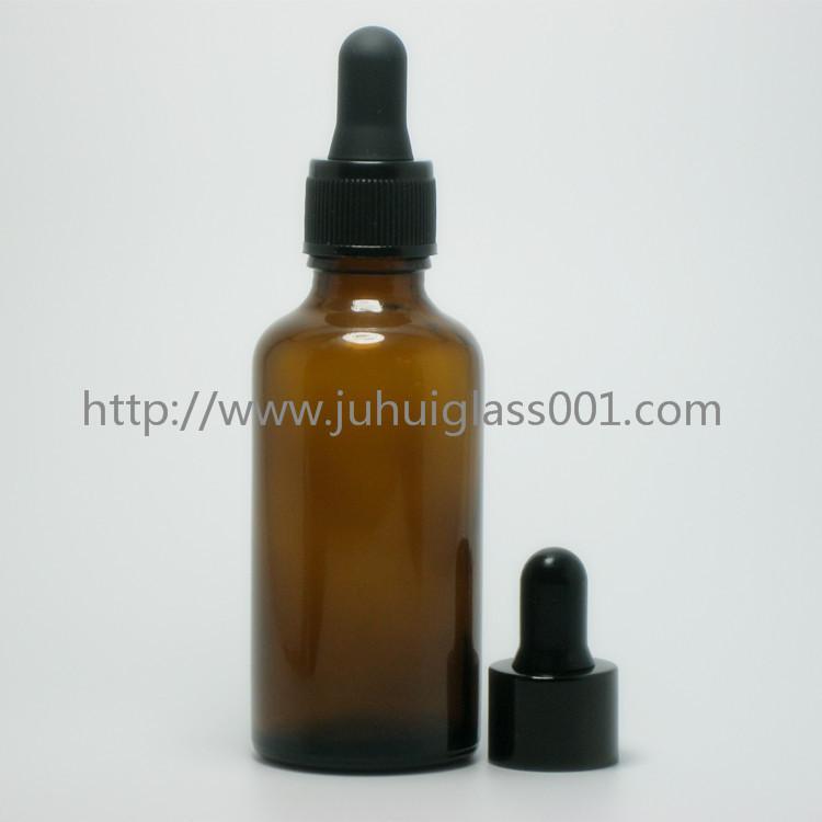 茶色50ml精油瓶香精瓶可配套各种塑料盖电化铝盖玻璃滴管 7