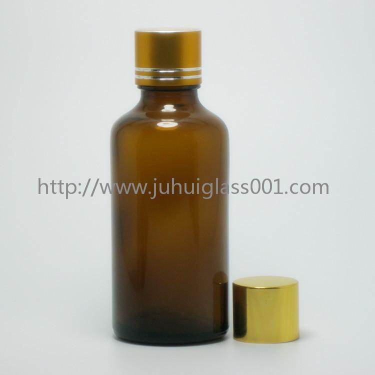 茶色50ml精油瓶香精瓶可配套各种塑料盖电化铝盖玻璃滴管 8