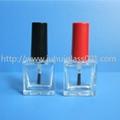 10ml方形玻璃指甲油瓶甲油胶