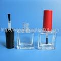 10ML Square Glass Nail Polish Bottle 2