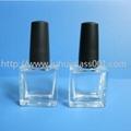 10ML Square Glass Nail Polish Bottle 4