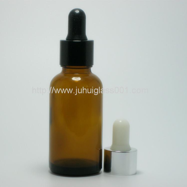 30ml圆形茶色玻璃精油瓶玻璃樽 1