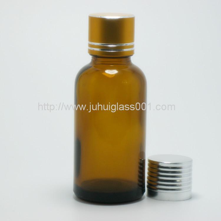 30ml圆形茶色玻璃精油瓶玻璃樽 4