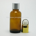 30ml圆形茶色玻璃精油瓶玻璃樽 5