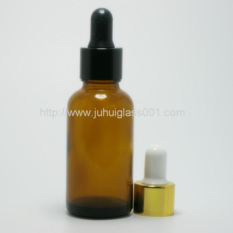 30ml圆形茶色玻璃精油瓶玻璃樽 2