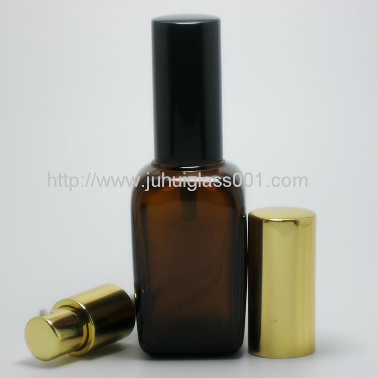 50ML Square Essential Oil Glass Bottle with Sprayer 1