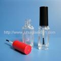 9ml长方形玻璃指甲油瓶毛刷瓶