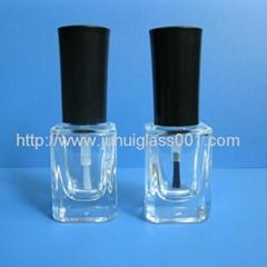 新款17ml方形玻璃指甲油瓶拉线扫瓶子